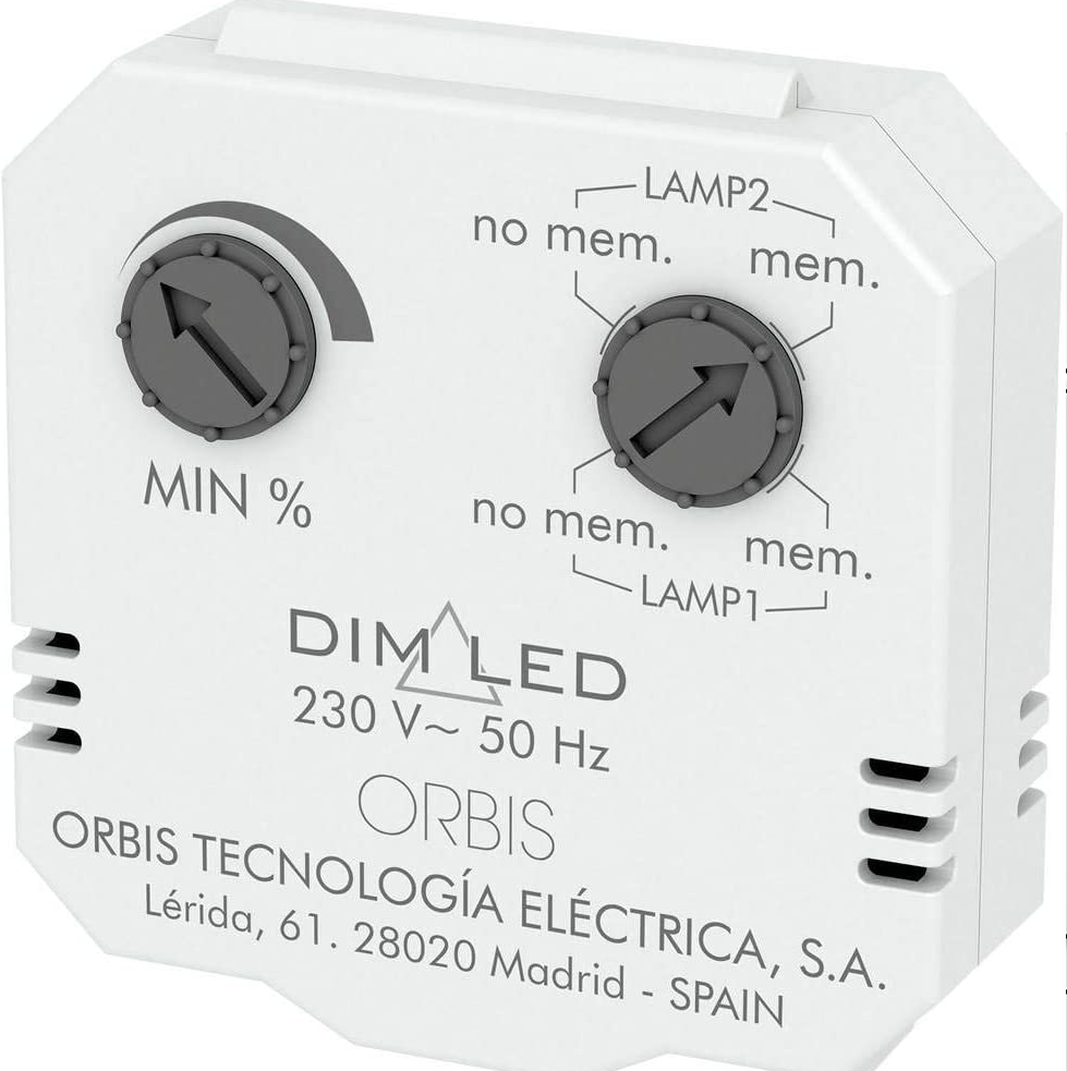 REGULADOR DE LUMINOSIDAD DIMER DIM LED ORBIS